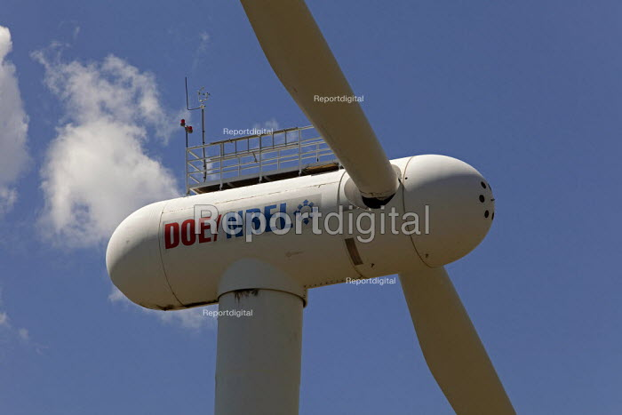 Boulder, Colorado - The National Renewable Energy Laboratory Wind Technology Center, a unit of the US Department of Energy, where research is conducted on wind turbines. - Jim West - 2009-07-07