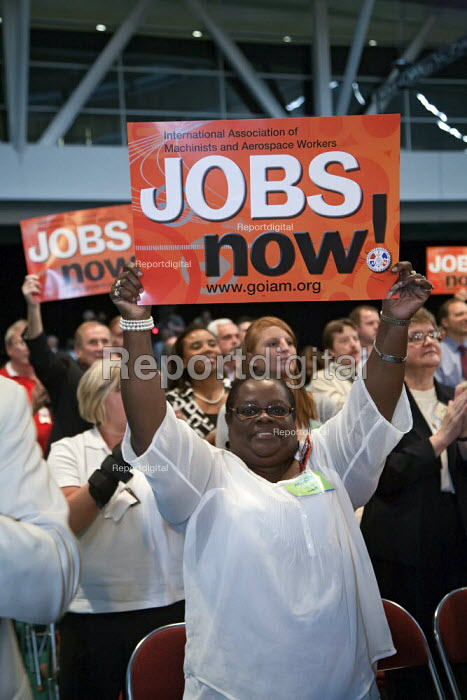 Pittsburgh, Pennsylvania - Delegates to the AFL-CIO convention protest for more jobs. - Jim West - 2009-09-14
