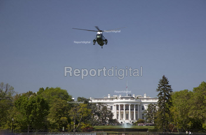 Marine One helicopter takes off from the White House lawn. - Jim West - 2010-04-19