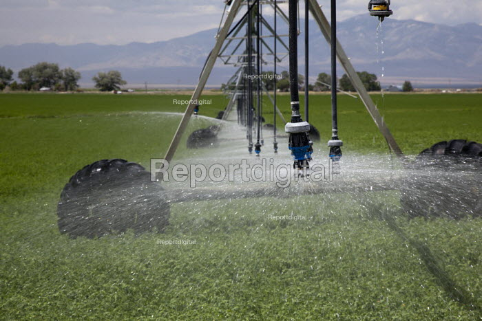 Irrigation equipment operating on the Baker Ranch, Nevada, USA - Jim West - 2011-07-05