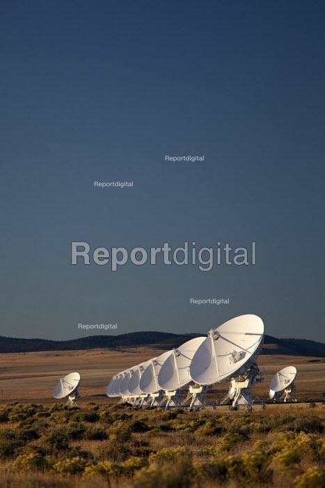 The NRAO Very Large Array (VLA) radio telescope consists of 27 large dish antennas on the Plains of San Agustin in western New Mexico. USA - Jim West - 2010-10-09