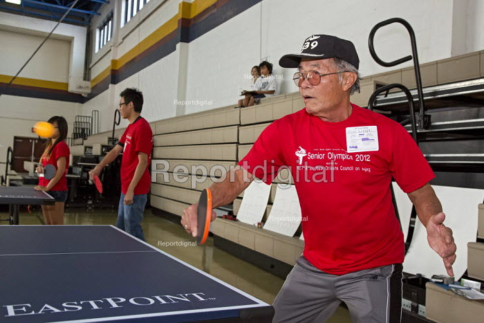 New Orleans, Louisiana - Senior citizens participate in the VIET Senior Olympics, a day of both active and sedentary games. The event was organized by Vietnamese Initiatives in Economic Training (VIET) for Vietnamese-Americans and seniors of other ethnicities. - Jim West - 2012-11-03