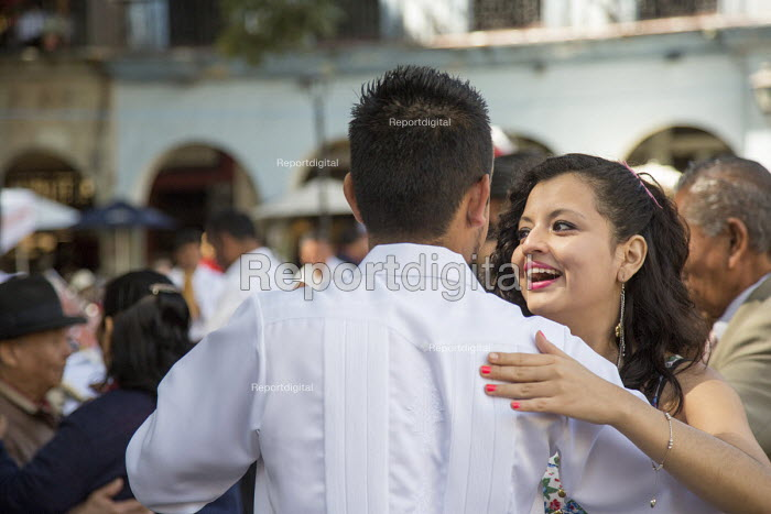 Oaxaca, Mexico - The weekly Wednesday dance in the central square - Jim West - 2015-01-14