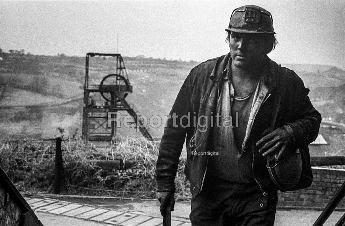 Miner at Oakdale colliery, South Wales leaving work - Martin Mayer - 1972-01-05