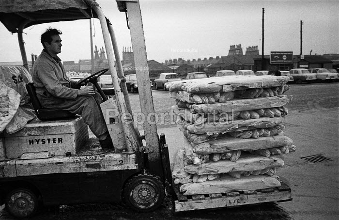 Unloading frozen fish from a trawler in Hull docks - Martin Mayer - 1968-10-29