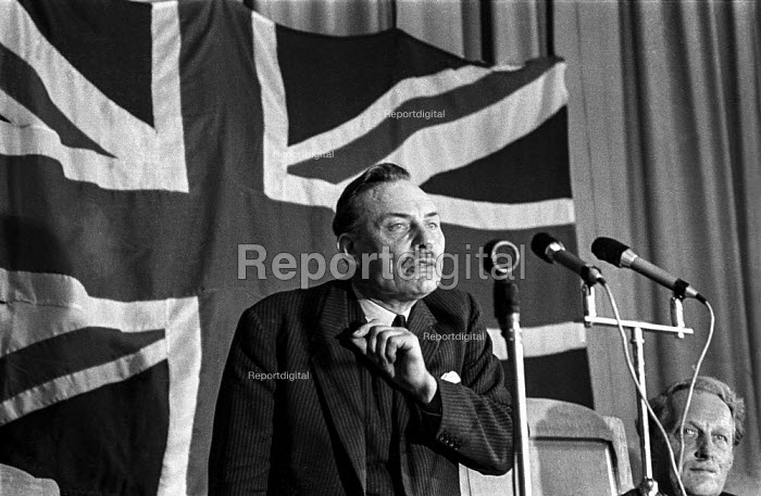 Conservative MP Enoch Powell speaking at a rally Tamworth & Litchfield constituency, Staffordshire, during the 1970 election campaign - Martin Mayer - 1970-06-15