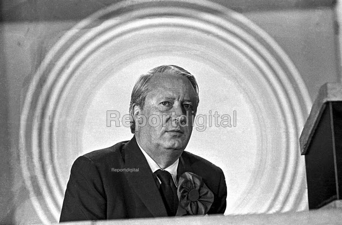 Conservative Party leader Edward Heath at an election rally in Bexleyheath during the 1970 election, which he won - Martin Mayer - 1970-06-13