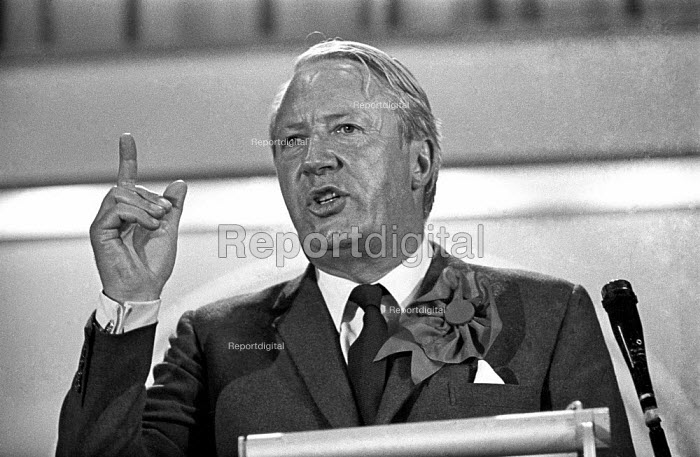 Conservative Party leader Edward Heath at an election rally in Bexleyheath during the 1970 election, which he won - Martin Mayer - 1970-06-06