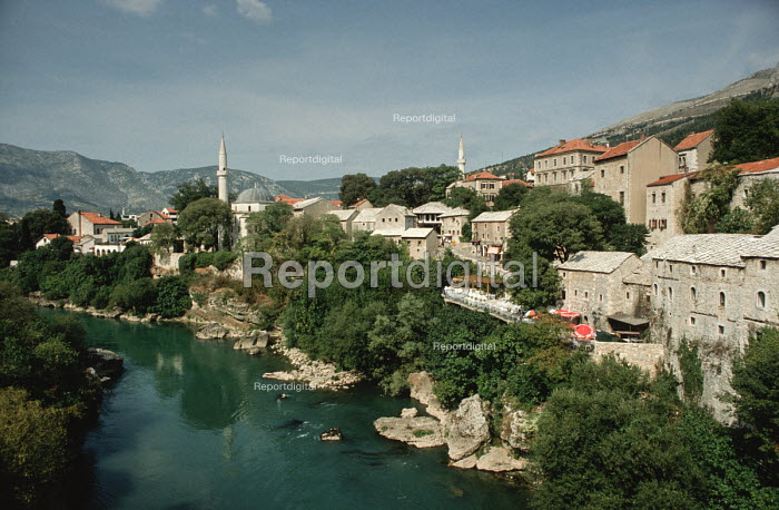 The old mainly Muslim quarter of Mostar in Western Bosnia 1990 - Martin Mayer - 1990-09-10