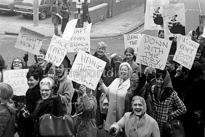 The second of 2 national Days of Action organised by the TUC against the anti-union laws proposed by the Heath Government, Liverpool. - Martin Mayer - 1971-01-12