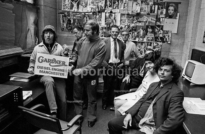 Occupation at L. Gardner and Sons, Eccles, Manchester in support of a pay claim and to counter a lock-out by management - Martin Mayer - 1973-06-11