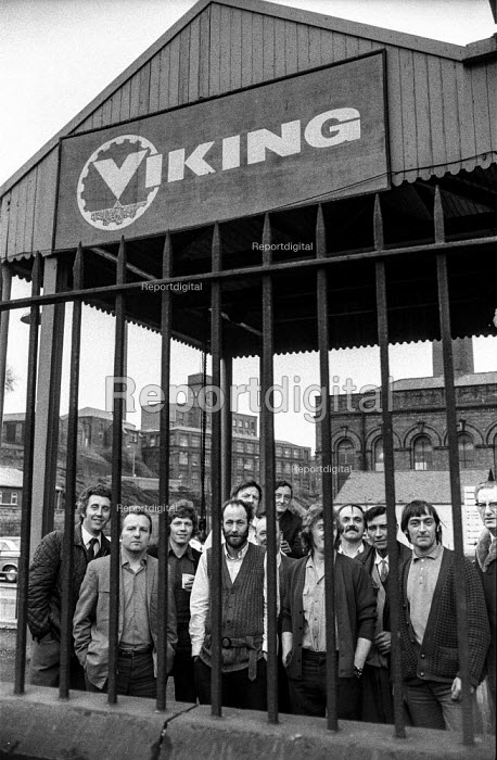 Workers at Viking Engineering, Stockport occupying their factory in support of a district wide claim for 6 pay increase, a 35 hour week, equal pay and longer holidays - Martin Mayer - 1972-04-13