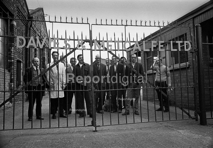 Workers at Davies and Metcalfe Ltd, Romily, Manchester occupying their factory in support of a district wide claim for 6 pay increase, a 35 hour week, equal pay and longer holidays - Martin Mayer - 1972-03-30