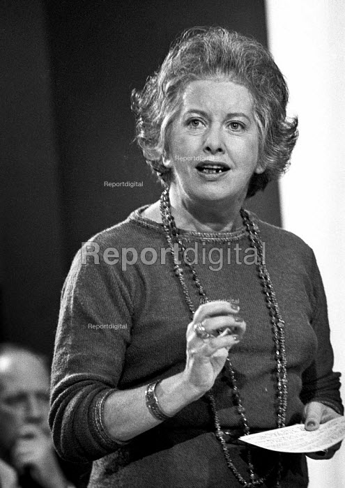 Judith Hart speaking, Labour Party conference 1976 - Martin Mayer - 1976-09-27