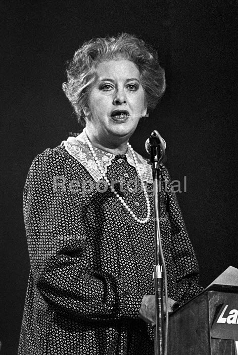 Judith Hart speaking, Labour Party conference 1978 - Peter Arkell - 1978-10-03