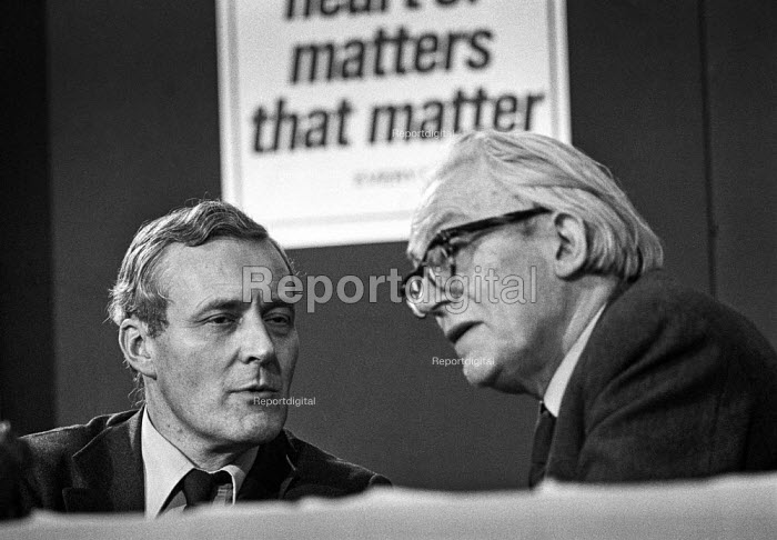 Michael Foot and Tony Benn, Labour Party conference 1976 - Martin Mayer - 1976-09-27