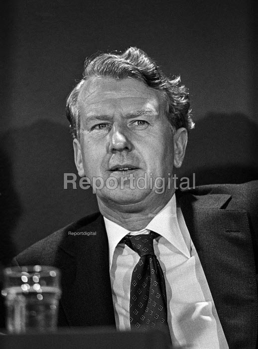 Peter Walker MP speaking at a European election press conference shortly after Conservatives returned to power in 1979. A founder of the Reform Group and Chairman of the Carlton Club - Martin Mayer - 1979-05-18