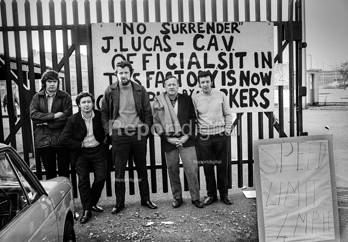 Workers occupying CAV Lucas factory Fazakerley, Liverpool 1972 against closure and redundancies as Lucas expand into Europe - Martin Mayer - 1972-10-14