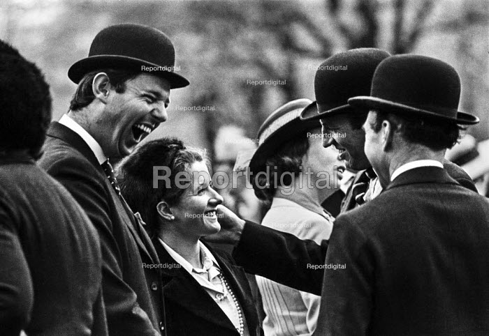 Combined Cavalry Old Comrades Association members chatting to their wives after their annual parade through Hyde Park, London - Martin Mayer - 1973-05-14