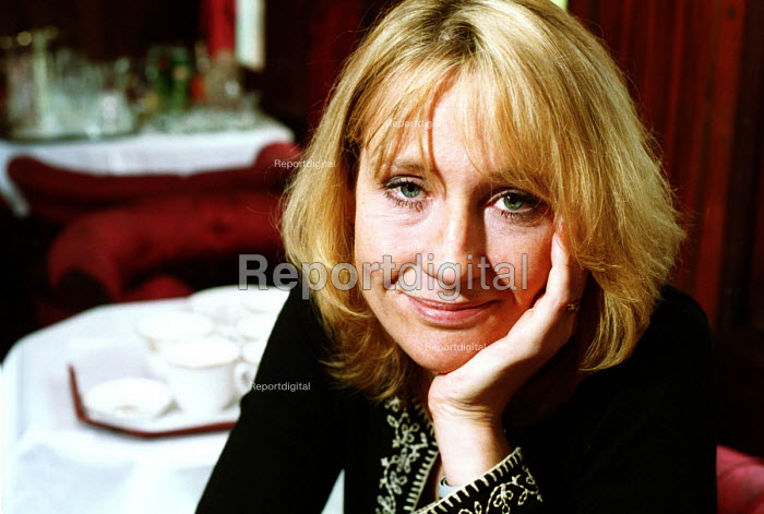 Author of the Harry Potter books, JK Rowling, on board the Hogwarts Express. - Mark Pinder - 2000-07-10
