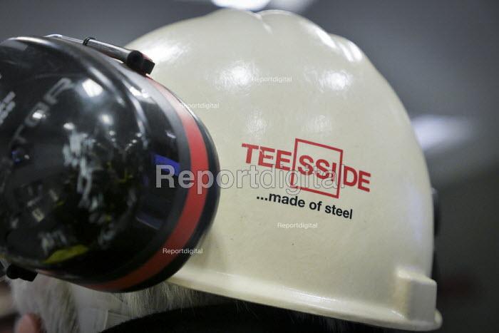 A hard hat, blast furnace control room SSI UK Redcar steelworkss Teesside - Mark Pinder - 2014-04-02