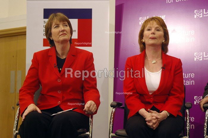 'Unions Together' Labour leadership and deputy leadership hustings meeting, Centre For Life, Newcastle Upon Tyne, 3/6 2007. Deputy leadership candidates Harriet Harman and Hazel Blears. - Mark Pinder - 2007-06-03