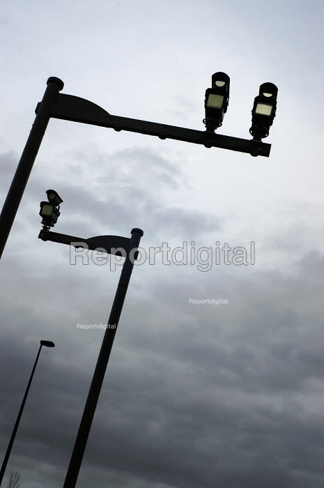 Some very sinister looking average speed traffic cameras on the A1068, Newcastle Upon Tyne. - Mark Pinder - 2007-03-05