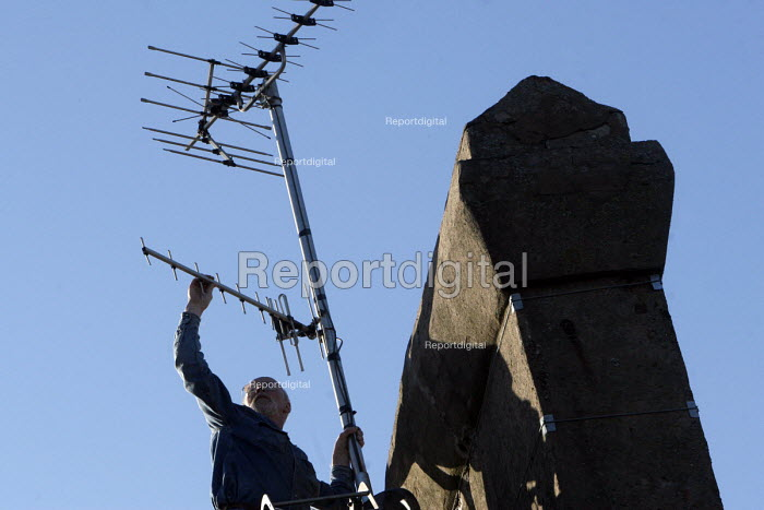 Digital television switchover UK. Whitehaven in Cumbria is the first town in Britain to have exclusively digital television reception when the analogue TV signal is switched off beginning October 17th 2007 - Mark Pinder - 2007-10-10