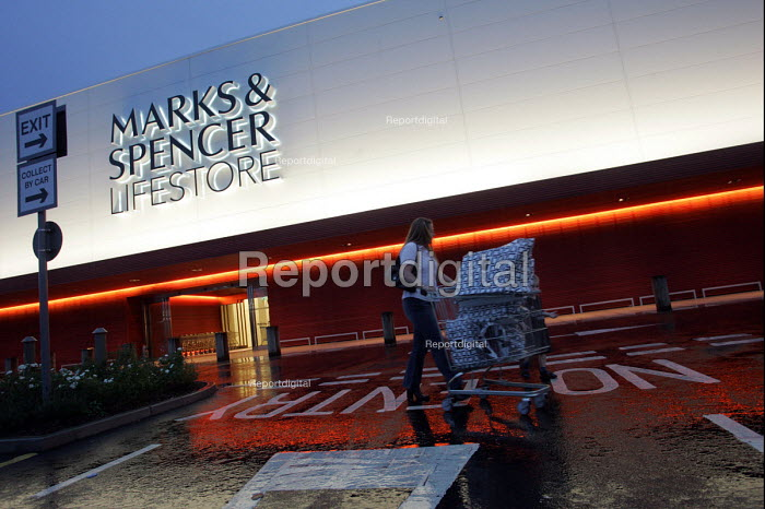 Marks and Spencer 'Lifestore' which closed after 5 months from opening. Metro Centre Retail Park, Gateshead, UK. - Mark Pinder - 2004-08-18
