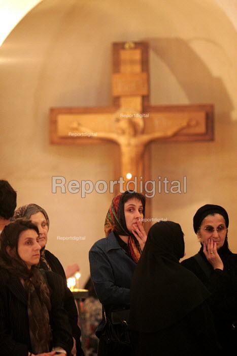 Women attending Friday Mass at the Georgian Orthodox Sameba Church, Tbilisi, Georgia, 20/5 2005. - Mark Pinder - 2005-05-20