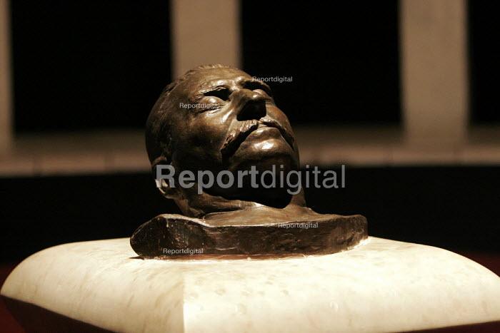 Bronze death mask of former Soviet leader Joseph Stalin, Joseph Stalin Museum, Gori, Republic of Georgia - Mark Pinder - 2005-05-21