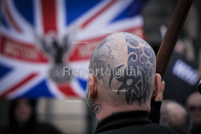 Alliance of fascist groups including the British Movement, National Alliance and Azov, White Man March rally, Newcastle Upon Tyne - Mark Pinder - 2015-03-21