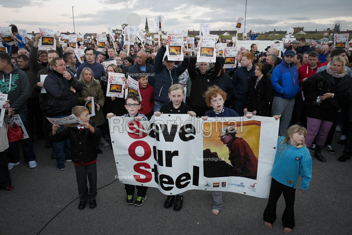 Save Our Steelworks campaign, Keep the Lights Burning rally, Redcar Teesside - Mark Pinder - 2015-09-24