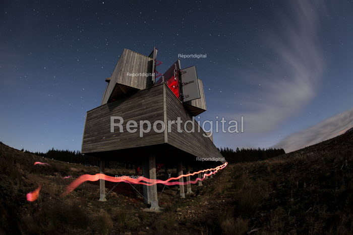 The Kielder Observatory viewing the Cosmos through a reflecting telescope, Kielder Forest, Northumberland - Mark Pinder - 2010-09-25