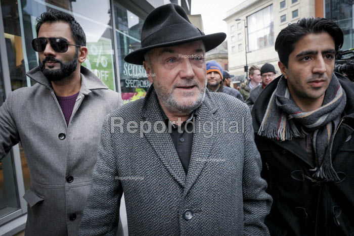 Respect leader George Galloway after the anti Pegida rally. Newcastle Upon Tyne - Mark Pinder - 2015-02-28