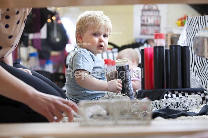 A young boy playing, Norland Nursery, Bath. - Paul Box - 2012-06-27
