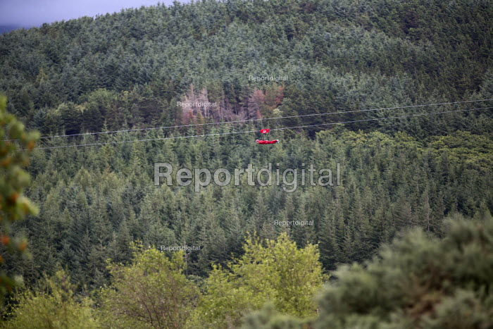 Zip World Velocity, longest and fastest zip line in Europe at Penrhyn quarry, Bethesda, North Wales. - Paul Box - 2013-08-12