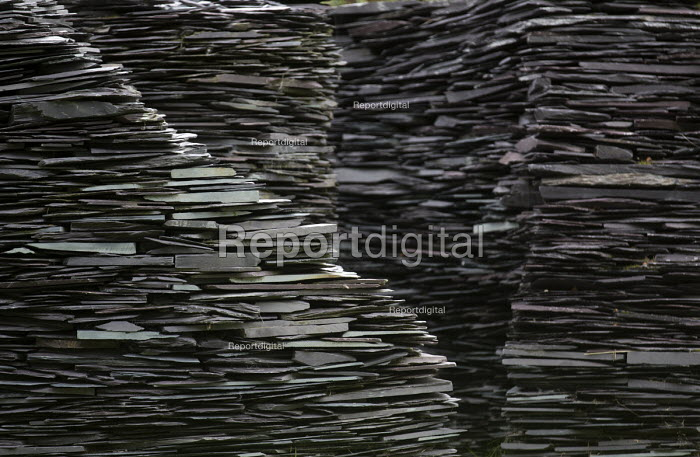 A slate structure at Welsh Slate, Penrhyn quarry, Bethesda, North Wales. - Paul Box - 2013-08-12