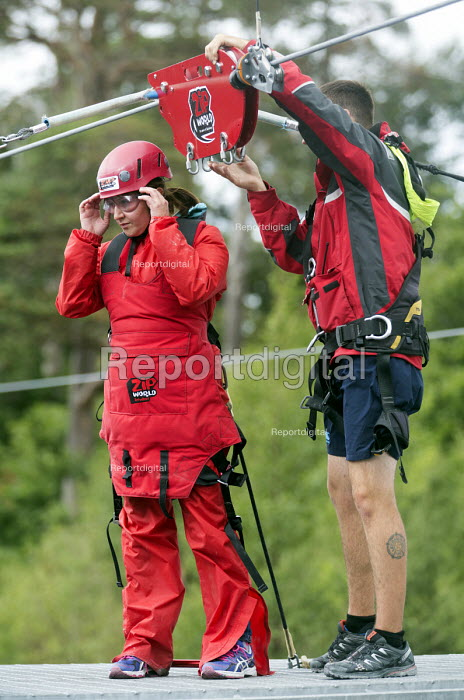 Zip World Velocity, longest and fastest zip line in Europe at Penrhyn quarry, Bethesda, North Wales. - Paul Box - 2013-08-13