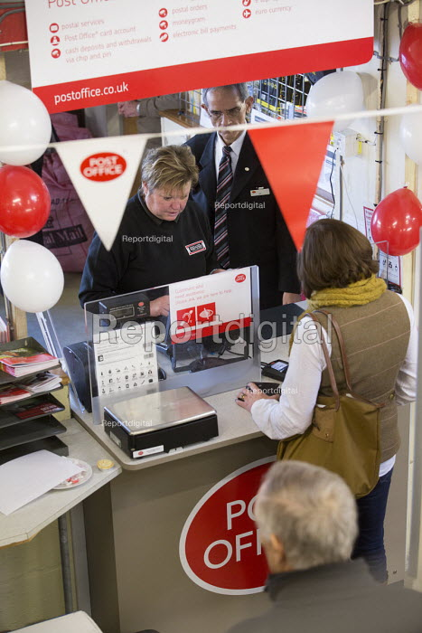 A rural post office opens in Gwilliams garden machinery store, Edington, Somerset - Paul Box - 2013-12-17