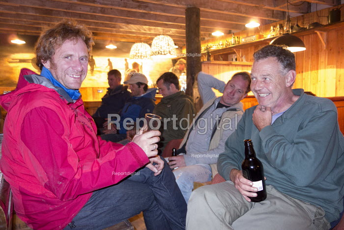 A stag party in a pub in Cardigan, Pembrokeshire, Wales. - Paul Box - 2013-09-07