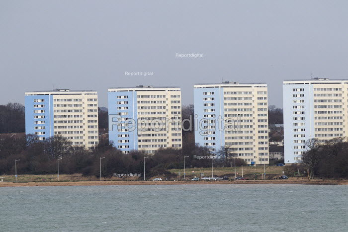 Housing overlooking the Solent, Southampton and the Isle of Wight - Paul Box - 2015-01-07