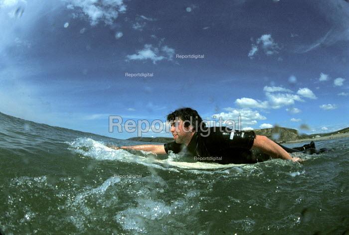 Surfer Bude beach Cornwall - Paul Box - 2002-06-07