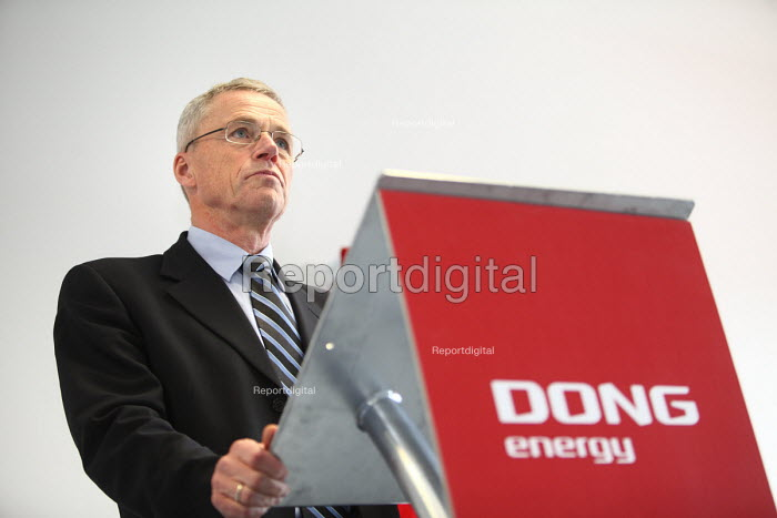Anders Eldrup CEO of DONG Energy. DONG Energy opens the gas fired Severn Power Station in Uskmouth, South Wales. It is a very efficient natural gas power station. - Paul Box - 2011-02-13