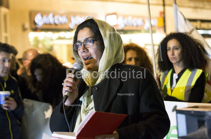 Rahela Siddiqui from London refugee womens forum, Protest outside The Home Office, Shine a light on Yarl's Wood and the indefinite detention of refugee women in the UK campaign - Paul Box - 2014-02-13