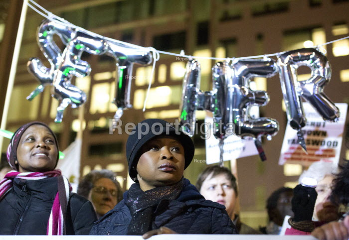 Protest outside The Home Office, Shine a light on Yarl's Wood and the indefinite detention of refugee women in the UK campaign - Paul Box - 2014-02-13