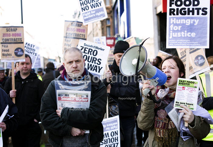 Launch of the Fast Food Rights campaign Oxford street, London - Paul Box - 2014-02-15