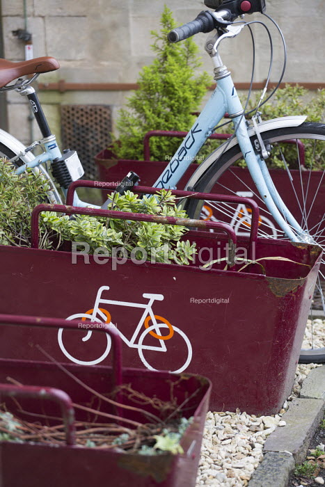 Bike parking racks, Bristol. European Green Capital. - Paul Box - 2014-12-09