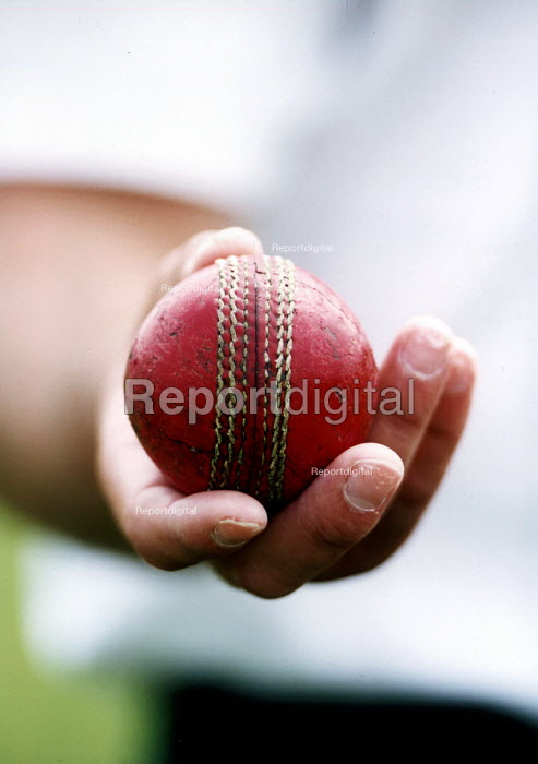 Hanham High school, bowler about to bowl, cricket match. - Paul Box - 2001-06-15