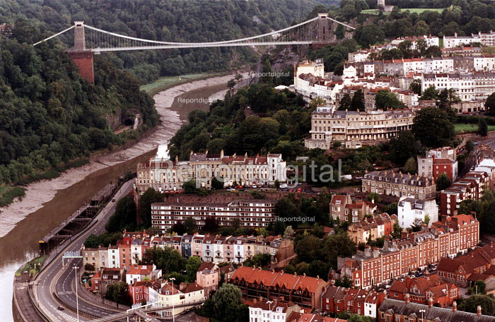 Clifton Suspension Bridge over the Avon Gorge, designed by Isambard Kingdom Brunel. Bristol. - Paul Box - 2002-08-15